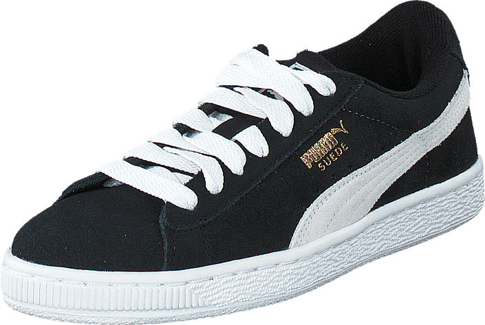 Puma - Suede Jr Black-White