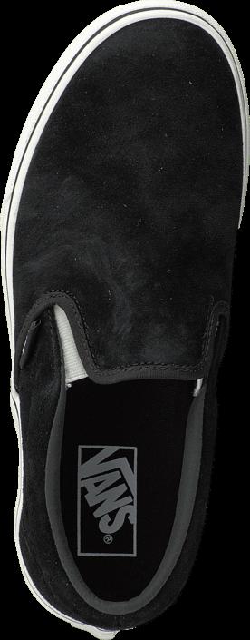 Vans - Classic Slip-On (Pig Suede) black/blanc