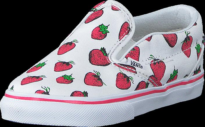 Vans - Classic Slip-On (Strawberries) True White