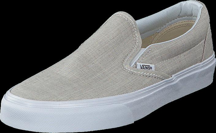 Vans Classic Slip-On (Chambray) Gray/True White