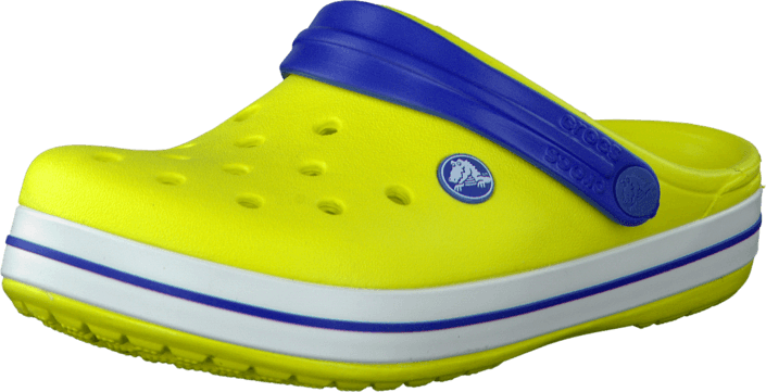 Footway SE - Crocs Crocband Kids Citrus/Sea Blue, Skor, Sandaler & Tofflor, Foppatofflor, Gul 337.00