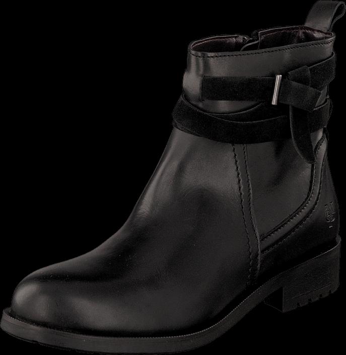 kj p marc o 39 polo flat heel bootie 990 black gr sko online. Black Bedroom Furniture Sets. Home Design Ideas