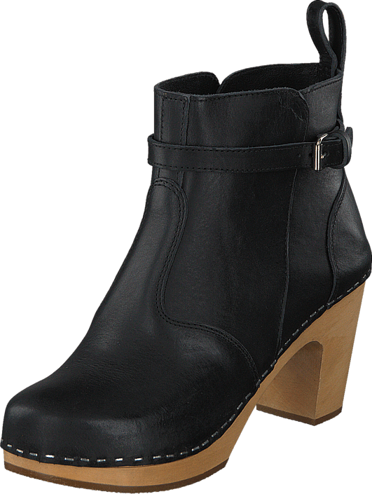 Swedish Hasbeens - High Heeled jodhpur Black / Nature