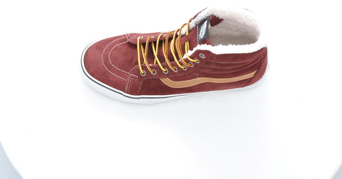 Vans - U SK8-HI Reissue Pig Suede Fleece Red