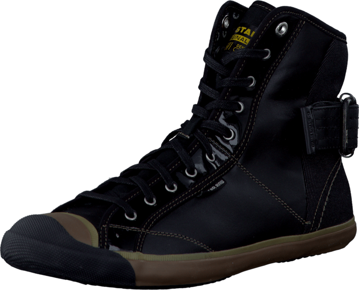 G-Star Raw - Grade Mortar Hi Lthr Black Lthr w Denim
