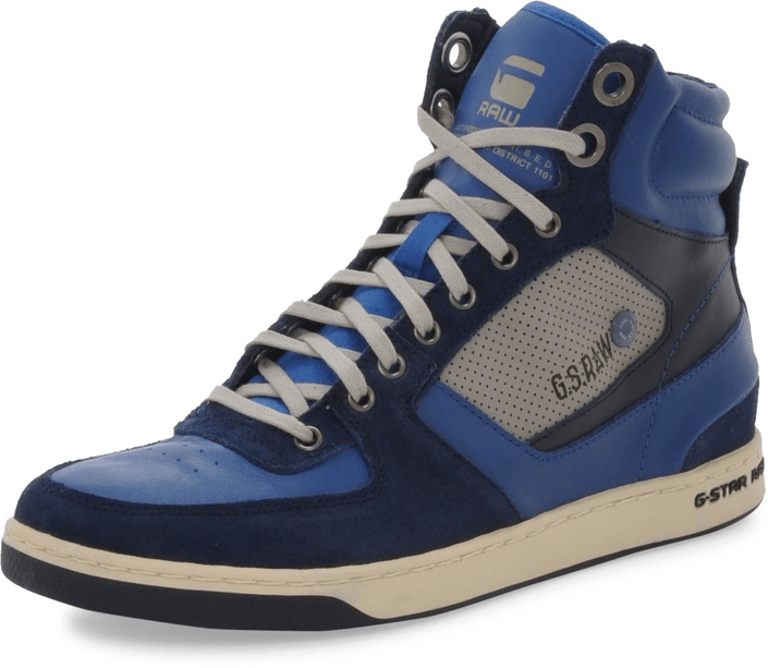 G-Star Raw - Pitcher Rhodes Hi Lthr Navy Lthr w Blue