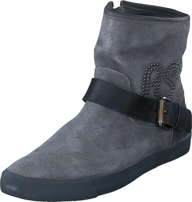 G-Star Raw - Rampart Prestige Rivet DK Grey Lthr & Suede