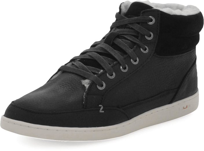 Hub Footwear - Mark Leather/Wool Black