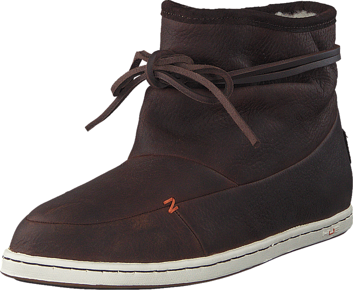 Hub Footwear - Queen Leather/Wool Dark Brown