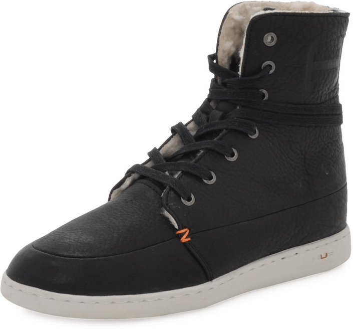 Hub Footwear Tin Leather/Wool Black
