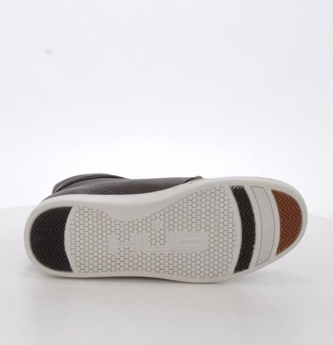 Hub Footwear - Tin Leather/Wool Dark Brown