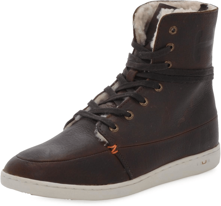 Hub Footwear - Tin Leather/Wool Dark Brown