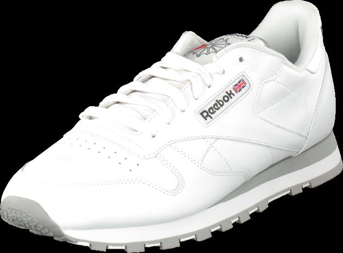 Footway SE - Reebok Classic Cl Lthr White/Lt. Grey, Skor, Sneakers & Sportskor, Sneakers, Vit 697.00