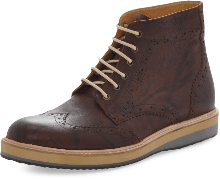 Knowledge Cotton Apparel - British Brogue Ancle Boot Buffalo Brown
