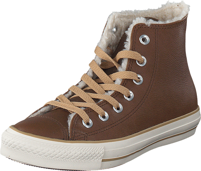 Converse - All Star Leather Shearling Hi Dark Earth