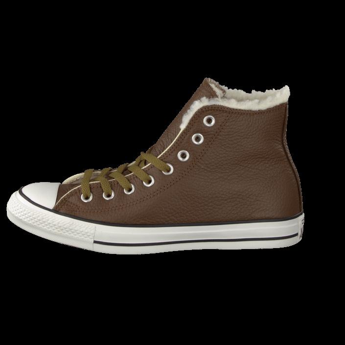 e27a22a22353 Kjøp Converse All Star Leather Shearling Hi Chocolate brune Sko Online