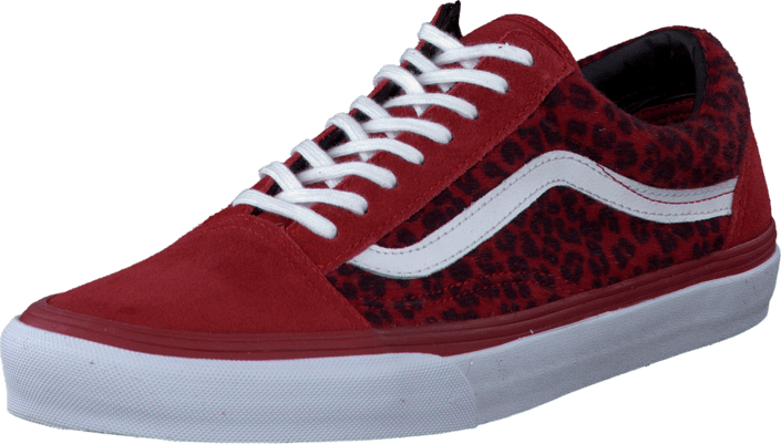 Vans - U Old Skool Leopard Red