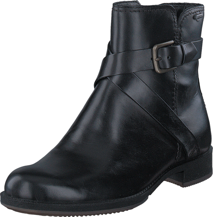 Ecco Saunter Mid Cut Zip Black