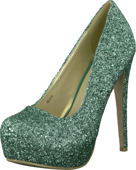 Sugarfree Shoes - Siri Glitter Mint green glitter