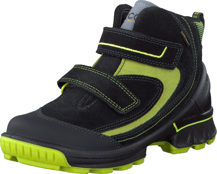 Ecco - Biom Hike Kids Low Quick Faste Black/Herbal