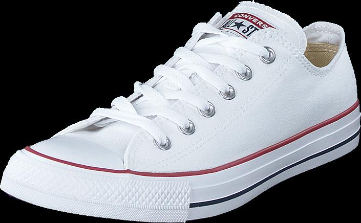 Converse All star Canvas Ox Optical White, Sko, Sneakers & Sportsko, Lave Sneakers, Hvid, Unisex, 43