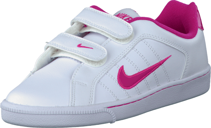 Nike - Court Tradition 2 Plus (Psv) White/Vivid Pink-Vivid Pink