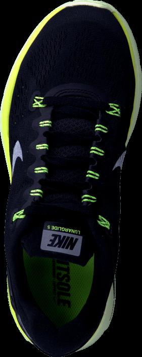 Nike - Nike Lunarglide+ 5 Black/Smmt White-Vlt-Brly Vlt