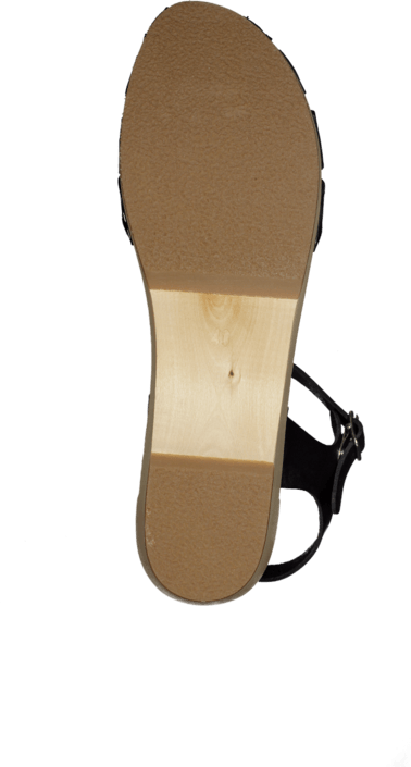 Swedish Hasbeens - Cross Strap Debutant Black/Nature sole