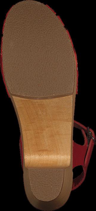 Swedish Hasbeens - Fredrica Red/Natue sole