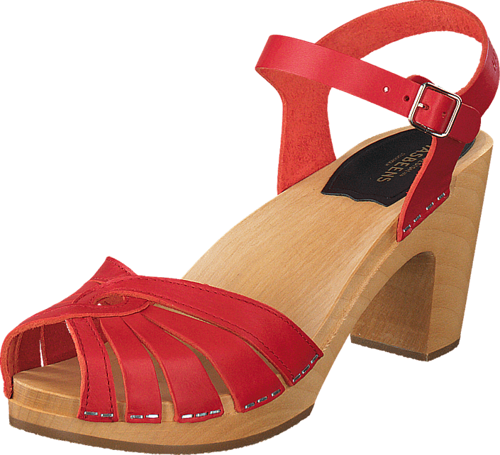 Swedish Hasbeens - Fredrica Red/Natue sole