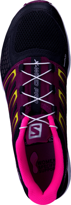 Salomon - X-Wind Pro W Black/Bordeaux/Fluo Pink