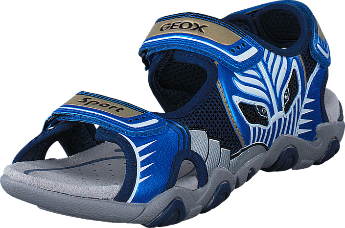 Geox Jr Sandal Strike Navy/Lt Blue