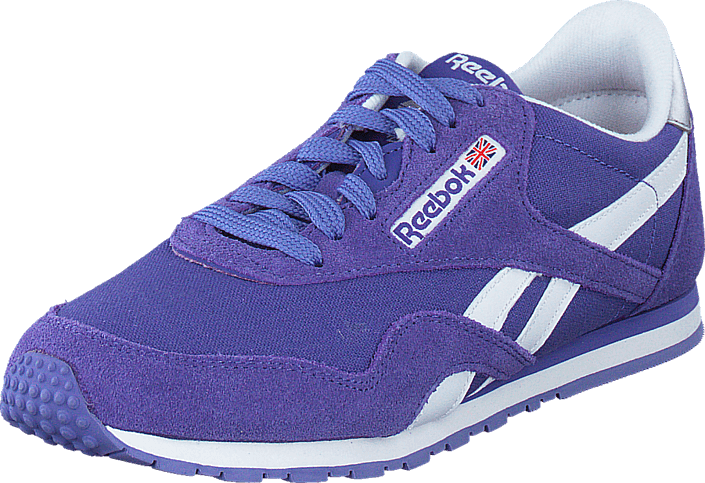 Reebok Classic - CL Nylon Slim Pop Purple Vibe/White/Pink/Silver