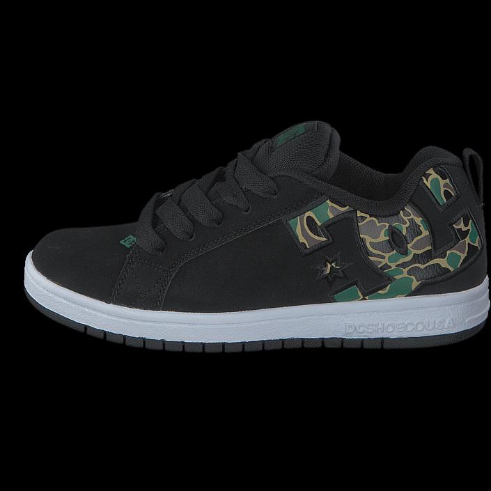 61cc29e6c90 Köp DC Shoes Court Graffik SE Shoe Black/Camo svarta Skor Online |  BRANDOS.se