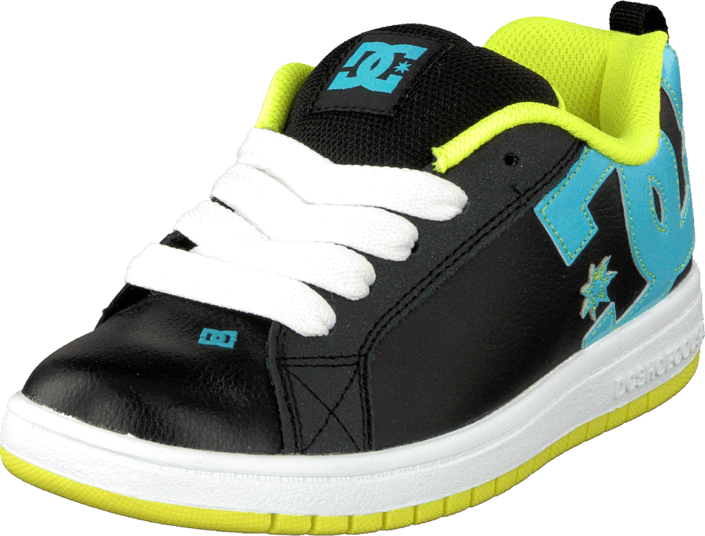 DC Shoes - Kids Court Graffik Shoe Black/Aqua