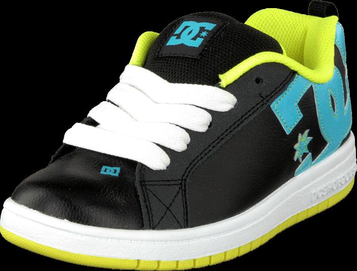 DC Shoes - Kids Court Graffik Shoe Black/Aqua