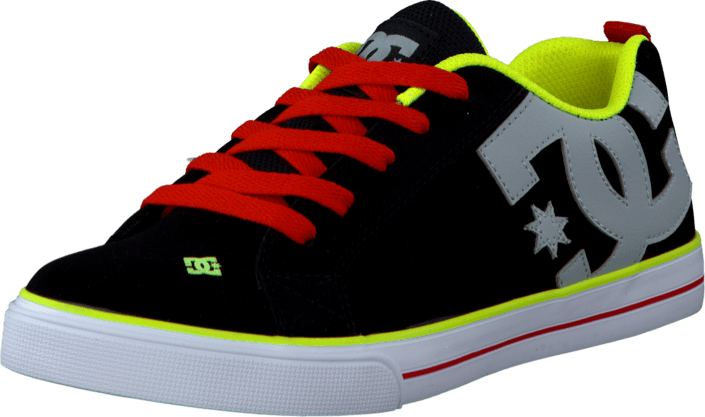 DC Shoes - Kids Court Graffik Vulc Shoe Black/Bright Yellow