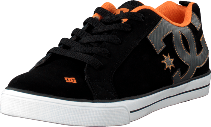 DC Shoes - Kids Court Graffik Vulc Shoe Black/Orange