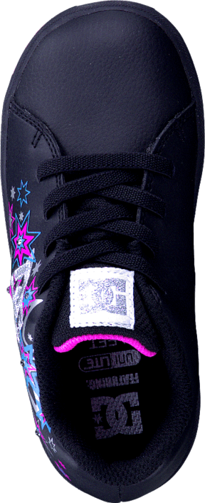 DC Shoes - Toddler Phos Shoe Black/Metallic Silver/Pink