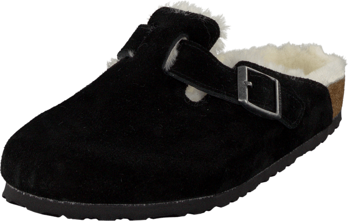 Birkenstock - Boston Regular Black Fur