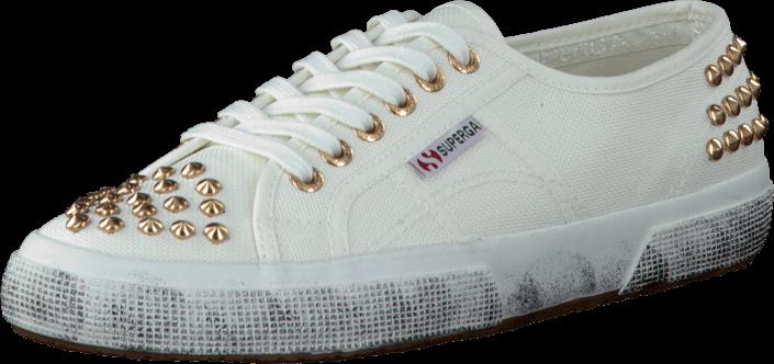 Superga 2750-COTSTUDS White Gold