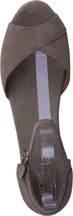 Toms - Women's Platform Wedges Taupe Suede