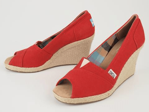 Toms - Solid Canvas Wedge