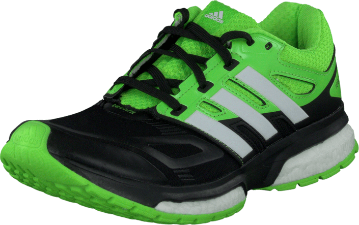 adidas Sport Performance - Response Boost Tech Core Black/White/Solar Green