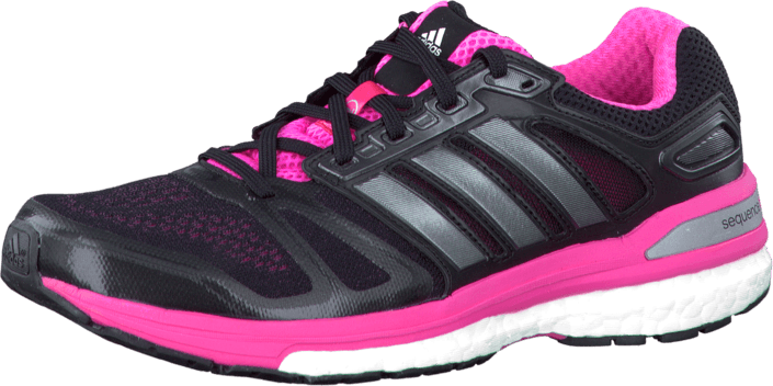 adidas Sport Performance - Supernova Sequence 7 W Black/Carbon Met./Neon Pink