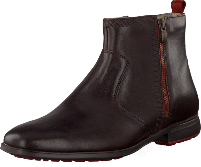 Clarks - Gleeson Zip Dark Brown