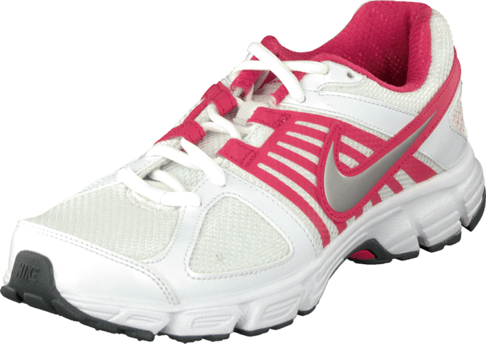 Nike - Wmns Nike Downshifter 5 Msl White/Mtllc Slvr-Drk Gry-Brry