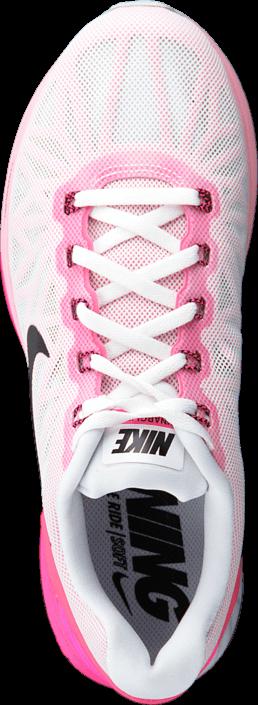 new style bf9ec 96a29 ... hot kjøp nike wmns nike lunarglide 6 white black pink pow spc pink rosa  sko online