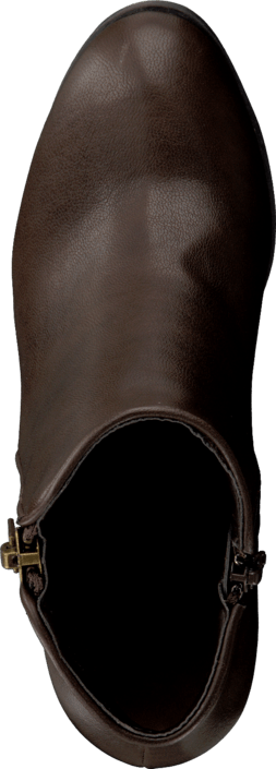 Bianco - Zipper Basic Boot Dark Brown