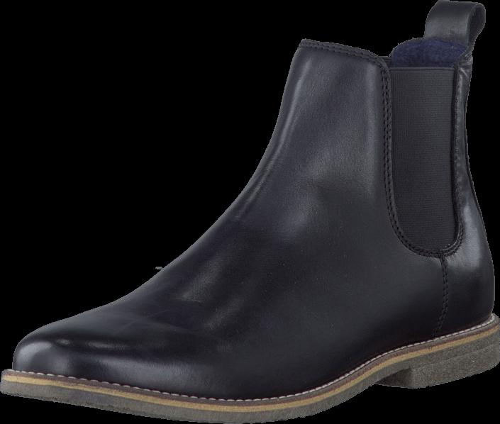 k p bianco chelsea leather boot black gr a skor online. Black Bedroom Furniture Sets. Home Design Ideas